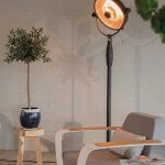 OutTrade - Sunred -Retro Sphere Standing - Halogen Terrace Heating